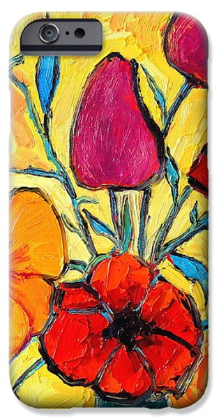 FLOWERS OF LOVE iPhone Case by ANA MARIA EDULESCU