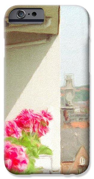 Flowers on the Balcony iPhone Case by Jeff Kolker