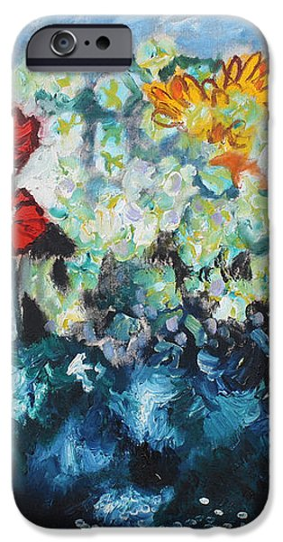 Flowers through the storm iPhone Case by Michael Kulick