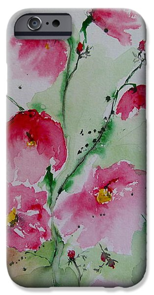 Flowers - watercolor painting iPhone Case by Ismeta Gruenwald
