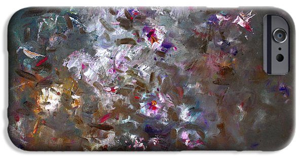 White Flowers Paintings iPhone Cases - My Flowers iPhone Case by Ylli Haruni