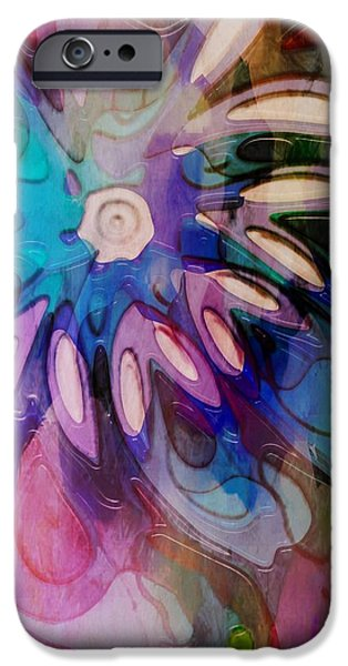 Floral Digital Art Digital Art Digital Art iPhone Cases - Flowery Illusion iPhone Case by Amanda Moore