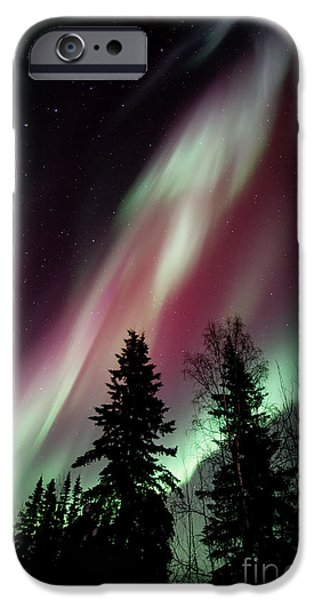 Storm iPhone Cases - Flowing Colours iPhone Case by Priska Wettstein