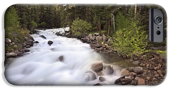 Fed iPhone Cases - Flowing Cascades iPhone Case by Niala Branson