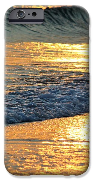 Abstract Seascape iPhone Cases - Flowing Gold iPhone Case by Ronald Lake