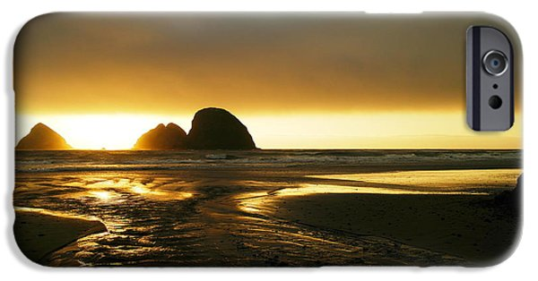 My Ocean iPhone Cases - Flowing Into The Ocean iPhone Case by Jeff  Swan
