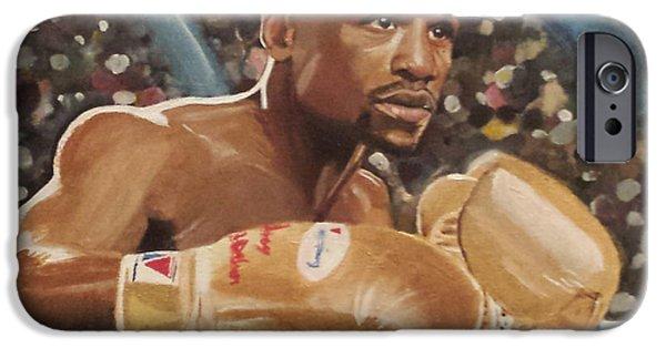 Floyd Mayweather Jr. iPhone Cases - Floyd Mayweather jr iPhone Case by Jason Majiq Holmes