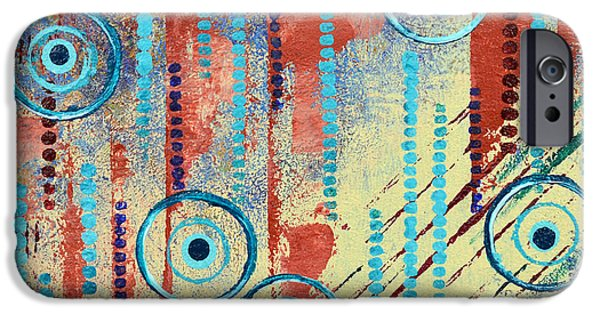 Abstract Movement Mixed Media iPhone Cases - Fluent iPhone Case by Moon Stumpp