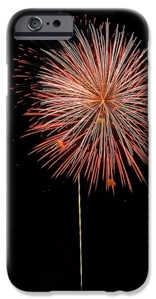 Fluffy red Ball iPhone Case by Devinder Sangha