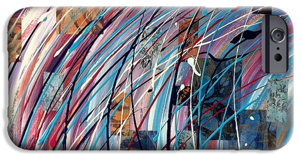 Multimedia Mixed Media iPhone Cases - Fluid Motion iPhone Case by Darren Robinson