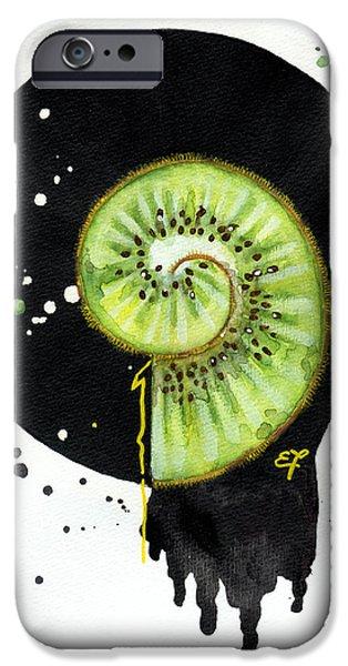 Fluidity 12 - Elena Yakubovich iPhone Case by Elena Yakubovich