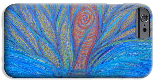 Spiritual Pastels iPhone Cases - Fluidity iPhone Case by Jamie Rogers