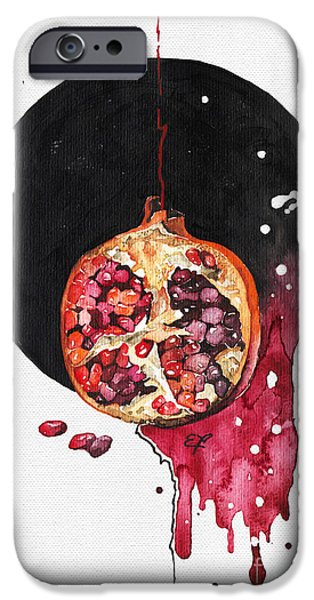 Interior Still Life Paintings iPhone Cases - Fluidity VII - Elena Yakubovich iPhone Case by Elena Yakubovich