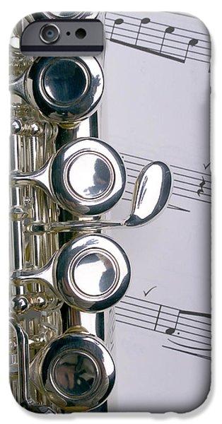 Flute iPhone Cases - Flute Close Up iPhone Case by Jon Neidert