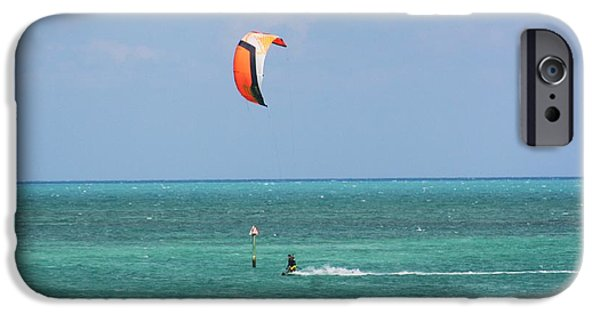Kite Boarding iPhone Cases - Fly A Kite iPhone Case by Chuck  Hicks