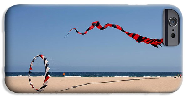Kite iPhone Cases - Fly a kite - Old hobby reborn iPhone Case by Christine Till