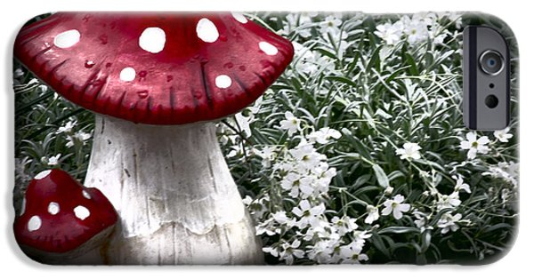 Shower Curtain iPhone Cases - Fly agaric iPhone Case by  ILONA ANITA TIGGES - GOETZE  ART and Photography