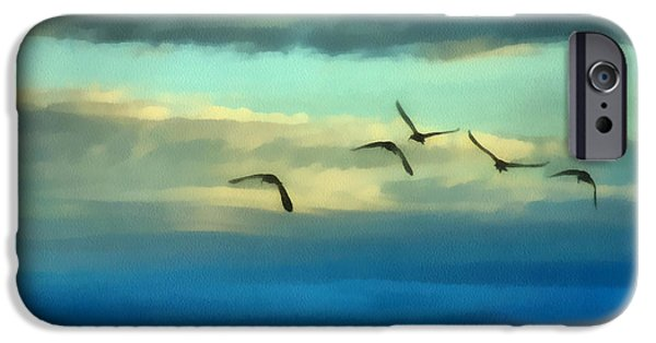 Ibis iPhone Cases - Fly Away iPhone Case by Ernie Echols