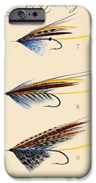 Nature Study iPhone Cases - Fly Fishing-JP2096 iPhone Case by Jean Plout