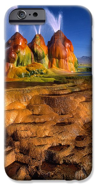 Alga Photographs iPhone Cases - Fly Geyser iPhone Case by Inge Johnsson