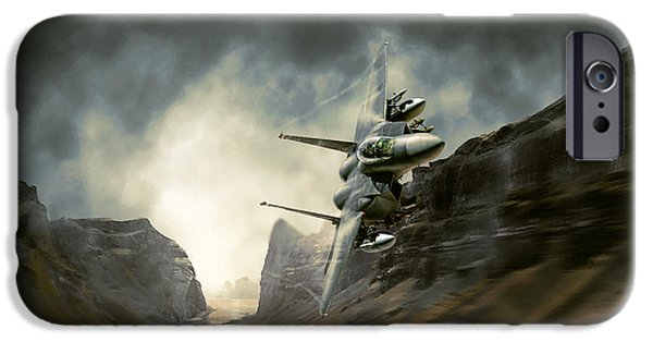 Iraq Prints iPhone Cases - Fly Low Hit Hard iPhone Case by Peter Van Stigt