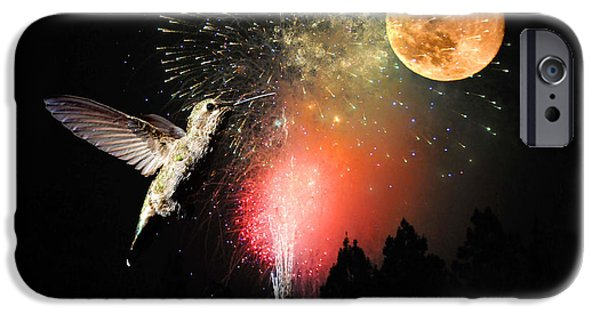 4th July Photographs iPhone Cases - Fly Me to the Moon iPhone Case by Lynn Bauer