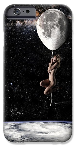 Iphone Art iPhone Cases - Fly Me to the Moon - Narrow iPhone Case by Nikki Marie Smith