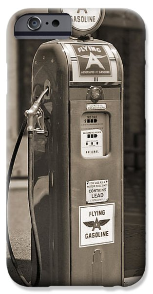 Flying A Gasoline - National Gas Pump 2 iPhone Case by Mike McGlothlen