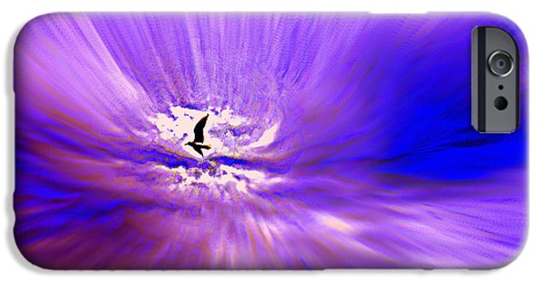 Norway iPhone Cases - Flying Back Home iPhone Case by Hilde Widerberg