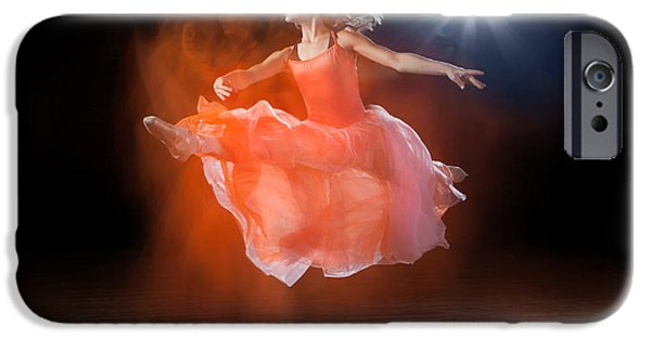 Ballet Dancers iPhone Cases - Flying Ballerina iPhone Case by Cindy Singleton