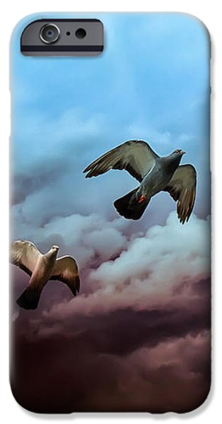 Animals Photographs iPhone Cases - Flying before the storm iPhone Case by Bob Orsillo