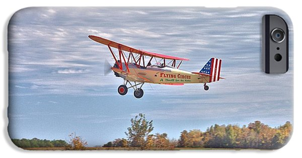Barnstormer Photographs iPhone Cases - Flying Circus Barnstormers iPhone Case by Gordon Elwell