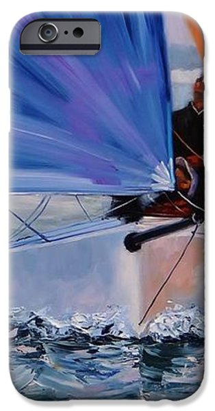Flying Colors Two iPhone Case by Laura Lee Zanghetti