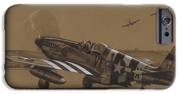 P-51 Mustang iPhone Cases - Flying Dutchman iPhone Case by Wade Meyers