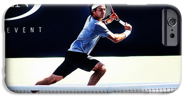 Federer iPhone Cases - Flying Federer  iPhone Case by Nishanth Gopinathan