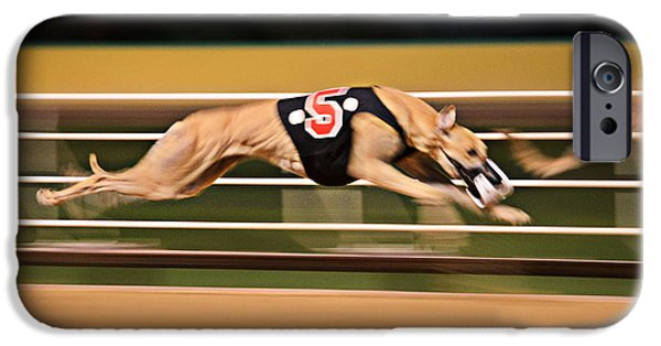 Dog Race Track iPhone Cases - Flying Five iPhone Case by Keith Armstrong