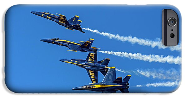 Angel Blues iPhone Cases - Flying Formation iPhone Case by Kate Brown