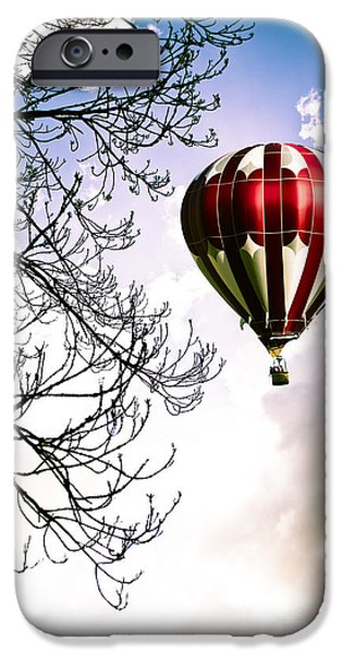 Hot Air Balloon iPhone Cases - Flying High iPhone Case by Jan Bickerton
