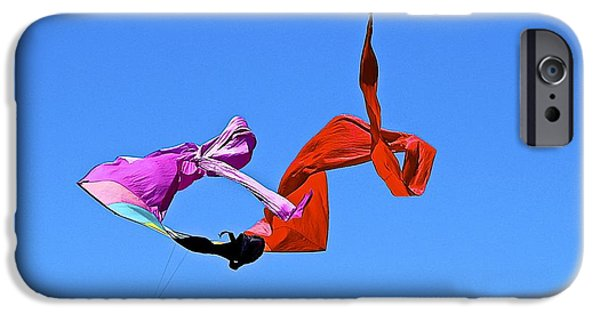 Child iPhone Cases - Flying in the wind iPhone Case by Barbara Zahno