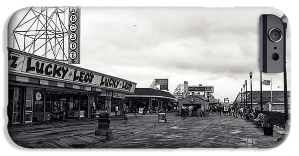 Seaside Heights iPhone Cases - Flying Over the Boardwalk mono iPhone Case by John Rizzuto