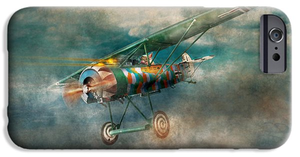 Wwi iPhone Cases - Flying Pig - Acts of a pig iPhone Case by Mike Savad