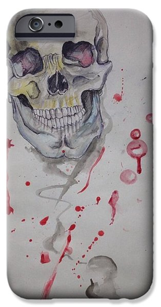 United States Sculptures iPhone Cases - Flying Skull iPhone Case by Erik Franco