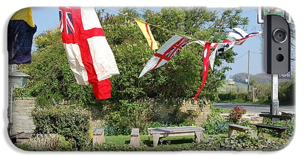 Flag iPhone Cases - Flying The Flag for St George iPhone Case by Linda Prewer