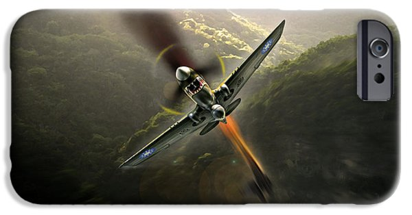 Li Na iPhone Cases - Flying Tigers iPhone Case by Peter Van Stigt