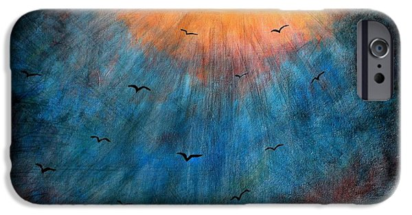 Michael Mixed Media iPhone Cases - Flying to Heaven iPhone Case by Mike Grubb