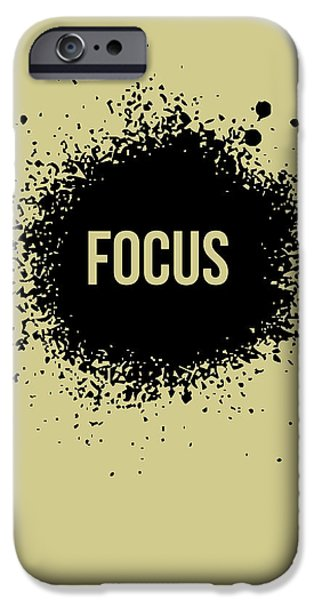 Expression iPhone Cases - Focus Poster Grey iPhone Case by Naxart Studio
