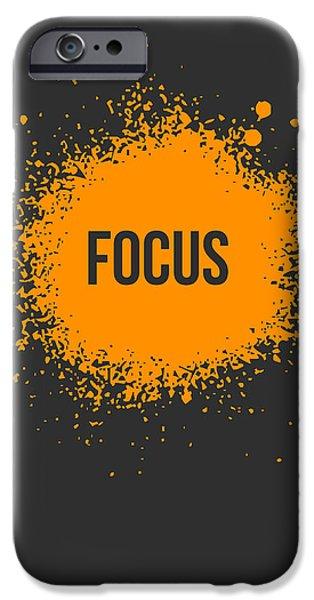 Boom iPhone Cases - Focus Splatter Poster 3 iPhone Case by Naxart Studio