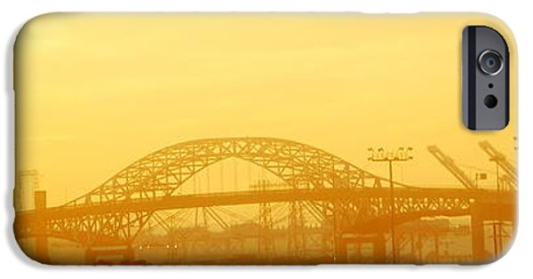 Asphalt iPhone Cases - Fog in the bridge iPhone Case by HQ Photo
