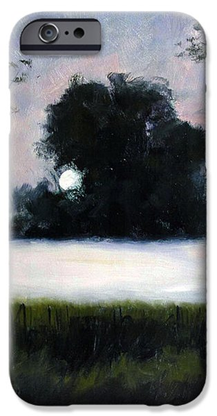 FOG MOON iPhone Case by Charlie Spear
