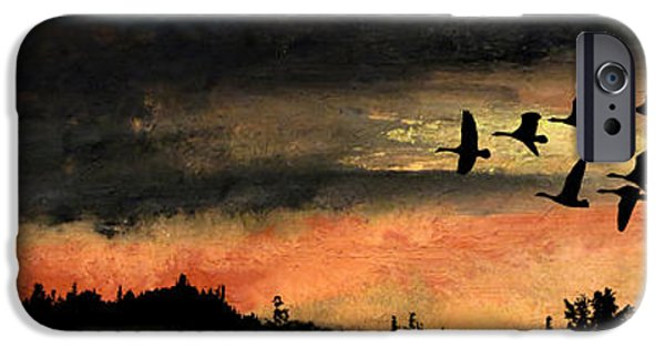 Dark Skies Pastels iPhone Cases - Fog on the Lake iPhone Case by R Kyllo